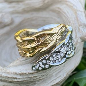 Chloe + Isabel Two Tone Feather Wrap Ring